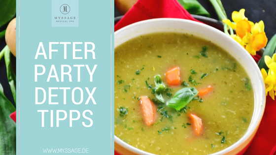 After Party Detox Tipps